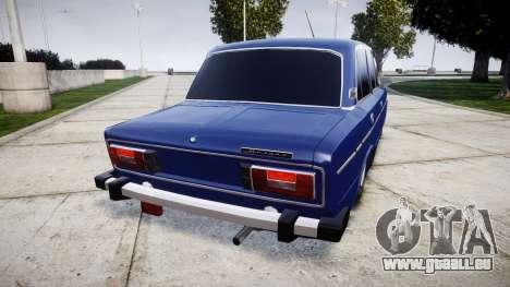 VAZ-2106 auf dem pneuma für GTA 4 hinten links Ansicht