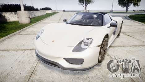 Porsche 918 Spyder 2014 pour GTA 4