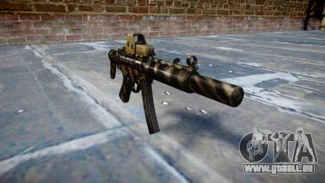 Pistolet MP5SD EOTHS CS c cible pour GTA 4