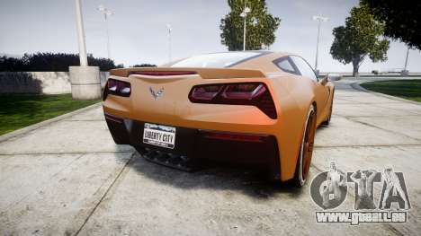 Chevrolet Corvette C7 Stingray 2014 v2.0 TireMi4 für GTA 4 hinten links Ansicht