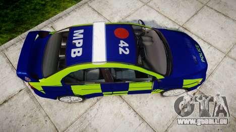 Mitsubishi Lancer Evolution X Police [ELS] pour GTA 4 est un droit