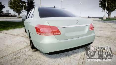 Mercedes-Benz E200 Vossen VVS CV5 pour GTA 4 Vue arrière de la gauche