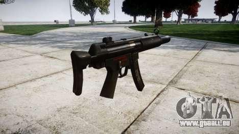Allemand pistolet mitrailleur HK MP5SD3 pour GTA 4 secondes d'écran
