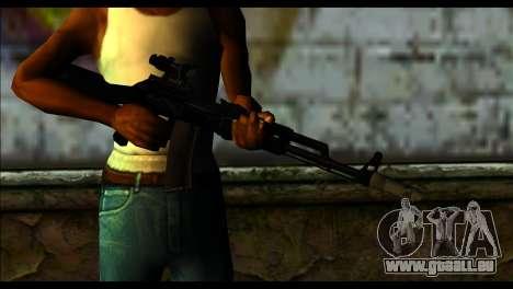 AK-101 ACOG pour GTA San Andreas troisième écran