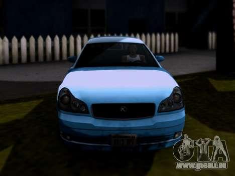 GTA V Intruder pour GTA San Andreas sur la vue arrière gauche