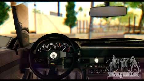 Maserati Ghibli II Cup (AM336) 1995 pour GTA San Andreas sur la vue arrière gauche
