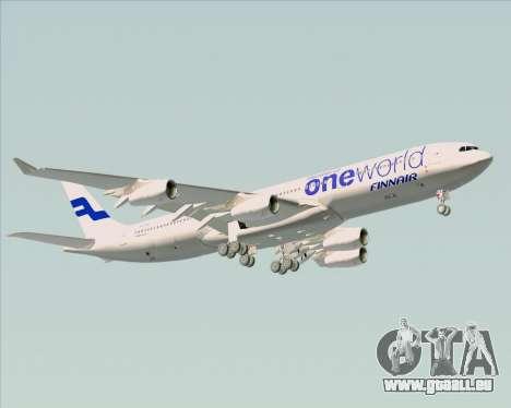 Airbus A340-300 Finnair (Oneworld Livery) pour GTA San Andreas vue de dessous