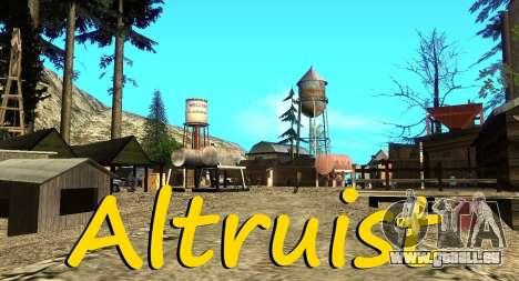 Der Altruist camp am mount Chiliad für GTA San Andreas