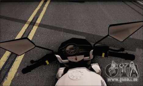 Honda Verza 150 pour GTA San Andreas sur la vue arrière gauche