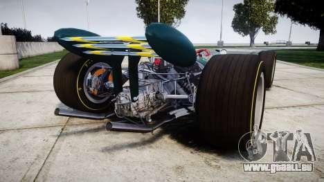 Lotus 49 1967 green für GTA 4 hinten links Ansicht
