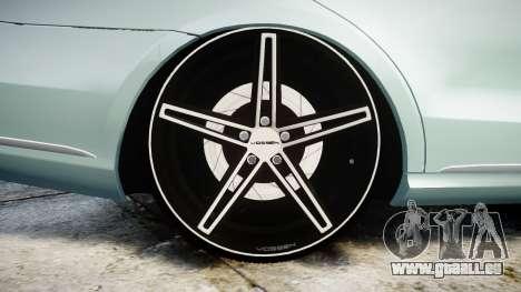Mercedes-Benz E200 Vossen VVS CV5 für GTA 4 Rückansicht