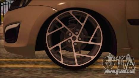 VAZ 2190 Lada Kalina-Subvention pour GTA San Andreas sur la vue arrière gauche
