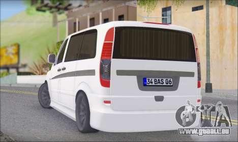 Mercedes-Benz Vito Vip pour GTA San Andreas laissé vue