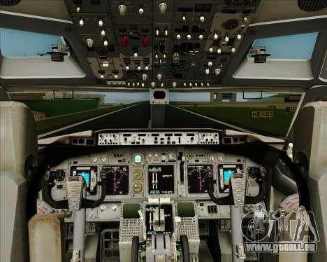 Boeing 737-800 WestJet Airlines für GTA San Andreas Innen