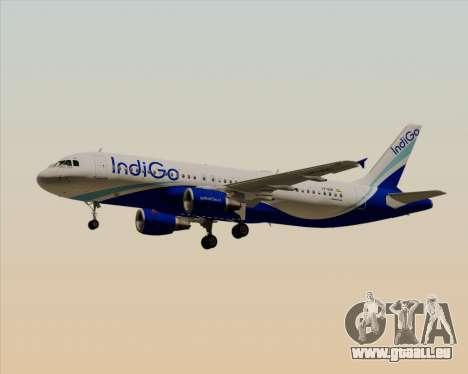 Airbus A320-200 IndiGo für GTA San Andreas Seitenansicht