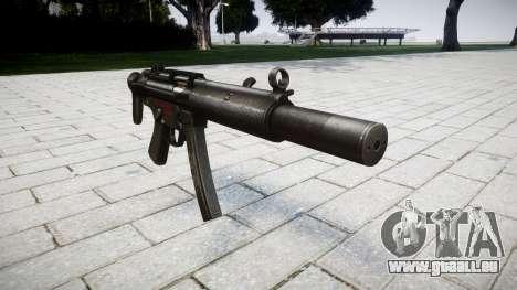 Pistolet MP5SD RO CS pour GTA 4