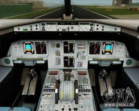 Airbus A320-200 IndiGo für GTA San Andreas Innen