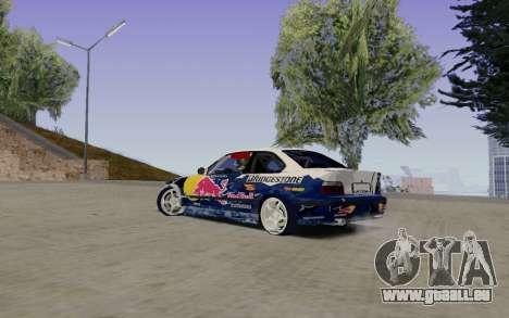 BMW E36 Red Bull pour GTA San Andreas laissé vue