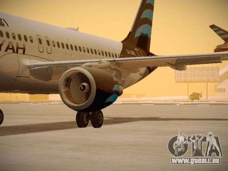 Airbus A320-214 Afriqiyah Airways pour GTA San Andreas vue intérieure