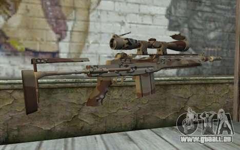 M14 EBR Chipdesert pour GTA San Andreas deuxième écran