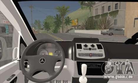 Mercedes-Benz Vito Vip pour GTA San Andreas sur la vue arrière gauche
