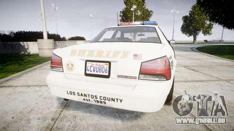 GTA V Vapid Police Cruiser Rotor [ELS] für GTA 4 hinten links Ansicht