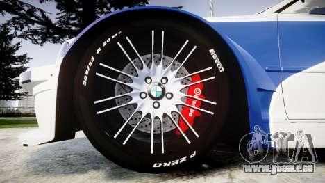 BMW M3 E46 GTR Most Wanted plate NFS ND 4 SPD pour GTA 4 Vue arrière