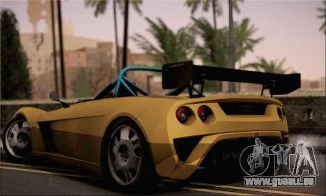 Lotus 2 Eleven (211) pour GTA San Andreas laissé vue