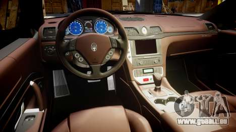 Maserati GranTurismo S 2010 PJ 1 für GTA 4 Rückansicht