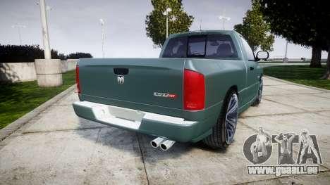 Dodge Ram pour GTA 4 Vue arrière de la gauche