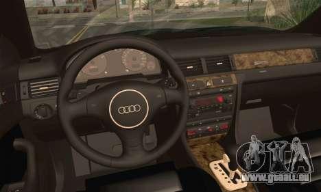 Audi A6 für GTA San Andreas zurück linke Ansicht