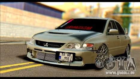 Mitsubishi Lancer Evolution IX JDM pour GTA San Andreas