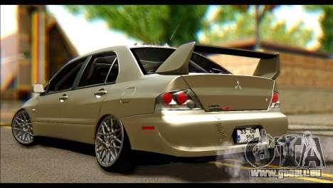 Mitsubishi Lancer Evolution IX JDM für GTA San Andreas linke Ansicht
