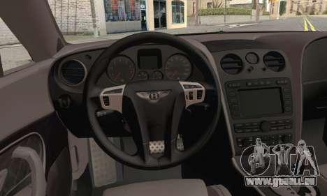 Bentley Continental Supersports für GTA San Andreas zurück linke Ansicht