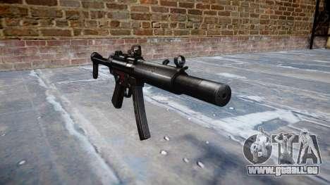 Pistolet MP5SD DRS FS b cible pour GTA 4