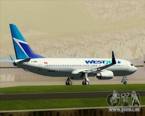 Boeing 737-800 WestJet Airlines pour GTA San Andreas