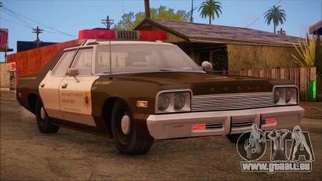 Dodge Monaco RCSD 1974 (HQLM) pour GTA San Andreas laissé vue