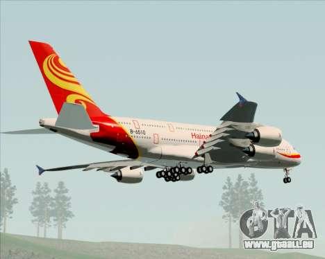 Airbus A380-800 Hainan Airlines für GTA San Andreas Rückansicht