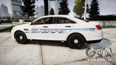 Ford Taurus 2014 [ELS] Liberty County Sheriff für GTA 4 linke Ansicht