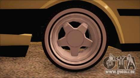 Tofas Sahin [RC] pour GTA San Andreas sur la vue arrière gauche
