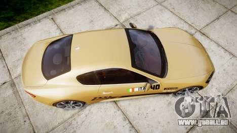 Maserati GranTurismo S 2010 PJ 1 für GTA 4 rechte Ansicht