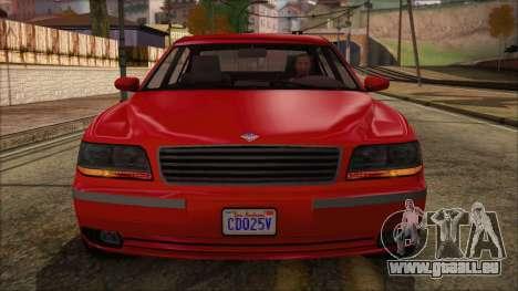 GTA 5 Ubermacht Oracle XS IVF pour GTA San Andreas vue de droite