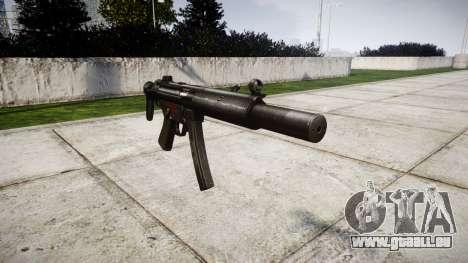 Allemand pistolet mitrailleur HK MP5SD3 pour GTA 4