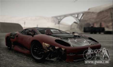 Jaguar XJ220S Ultimate Edition pour GTA San Andreas vue de côté