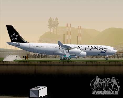 Airbus A340-300 All Nippon Airways (ANA) pour GTA San Andreas vue arrière