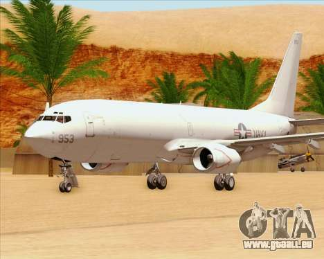 Boeing P-8 Poseidon US Navy pour GTA San Andreas vue de côté
