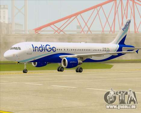 Airbus A320-200 IndiGo pour GTA San Andreas laissé vue