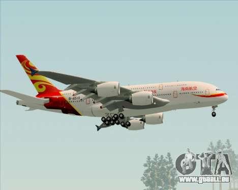Airbus A380-800 Hainan Airlines für GTA San Andreas rechten Ansicht