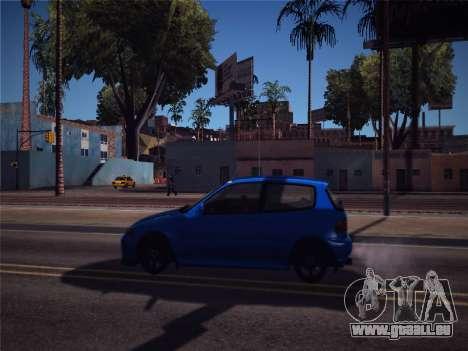 Honda Civic JDM Edition pour GTA San Andreas sur la vue arrière gauche