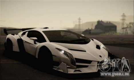 Lamborghini Veneno LP750-4 White Black 2014 pour GTA San Andreas